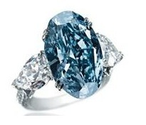 Blue Diamond Ring!  Bling Bling